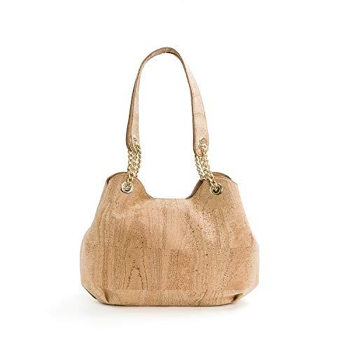 Vegan Cork Shoulder Bag for woman made in Portugal
