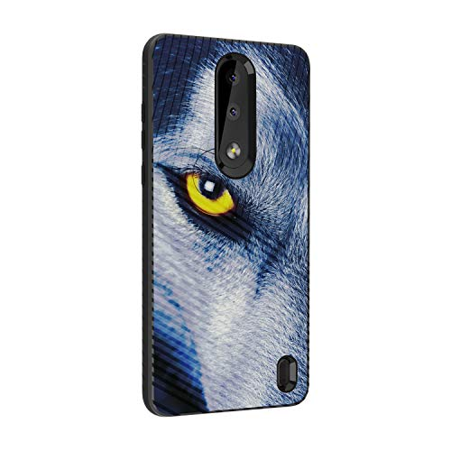 TurtleArmor | Compatible for Nokia X3 Case | Nokia 3.1 Plus Case | Engraved Grooves Shell Shockproof Hybrid Fitted TPU Case Animal Design - Wolf Eye