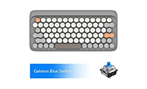 Wireless Mechanical Keyboard, LOFREE Four Seasons Bluetooth Keyboard with Gateron Blue Switch/White LED Backlit/Rechargeable Battery, 79 Key Vintage Keyboard for Mac Windows Android