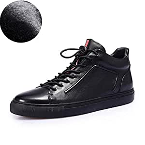 40d2329ccca2 Amazon.com: Hy Men's Formal Shoes, Fall/Winter Leather Flat Casual ...