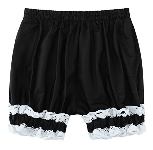 (Sheface Women's Cotton Lace Hem Bloomers Lolita Shorts (Small,)
