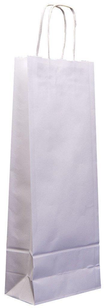 White 100x Twist handle White or Brown Kraft paper Wine Bags