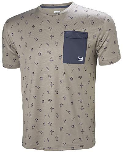 Helly Hansen Men's Lomma T-Shirt Fallen Rock Print - Crew Fallen T-shirt