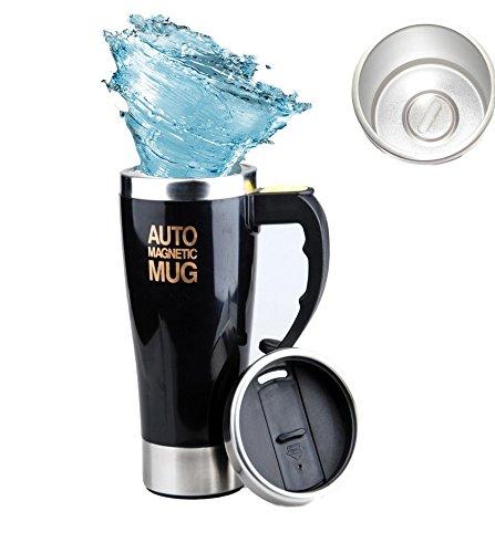 Self Stirring Coffee Mug Black - 9