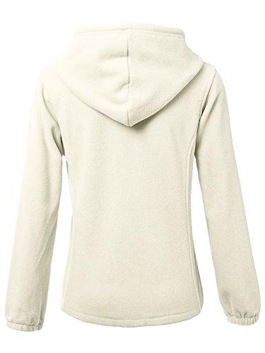 JayJay Women Ultra Soft Fleece Long Sleeve Hoodie Jacket,Beige,M by JayJay Active (Image #3)