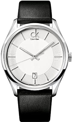 Calvin Klein Masculine Leather Mens Watch K2H21120