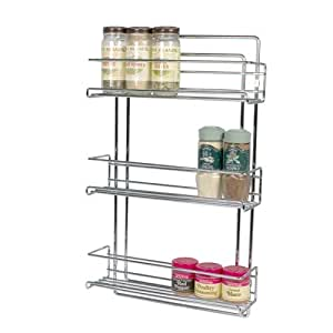 3 tier wall mounted spice rack kitchen dining - Wall mounted spice racks for kitchen ...