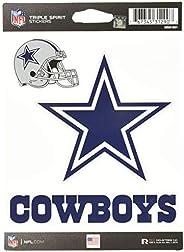 NFL Dallas Cowboys Die Cut 3-Piece Triple Spirit Sticker Sheet