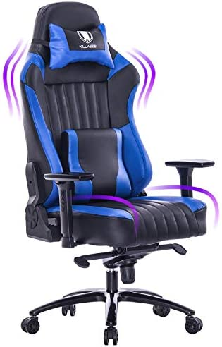 KILLABEE Big and Tall 400lb Memory Foam Gaming Chair-Adjustable Tilt