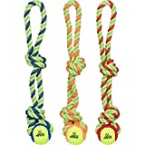 Petco Tennis Ball with Rope Tug Dog Toy, My Pet Supplies
