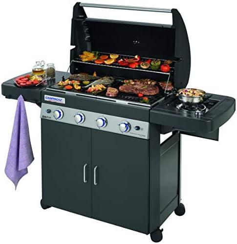 Campingaz 4 Series LS Plus Barbecue à gaz avec 2 grilles, 4 brûleurs en acier inoxydable et 1 côté