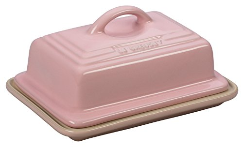 Le Creuset PG0307-1714 Stoneware Heritage Butter Dish Hibiscus