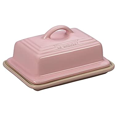 Le Creuset of America Stoneware Heritage Butter Dish, Hibiscus