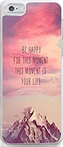Case for Iphone,Dseason Iphone 6plus 5.5 Hard Case **NEW** High Quality Unique Design christian quotes be happy for this moment this momwnt is your life