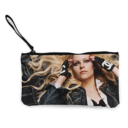 l Lavigne Retro Wallet Coin Purse Canvas Zipper Money Card Pouch Wallet for Shopping ()