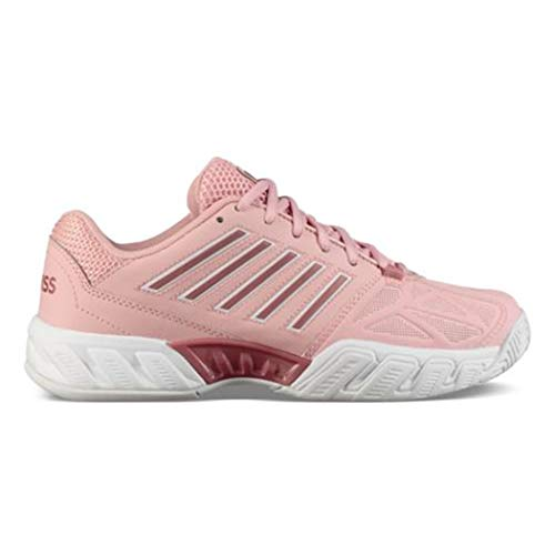 K-Swiss Big Kids Bigshot Light 3 Tennis Shoes, Coral Blush/White (Size 3.5 M US Big Kid) (Kids Kswiss Casual Shoes)