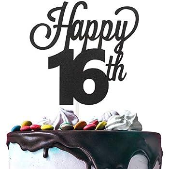 Amazon.com: RESTARDS - Decoración para tarta de feliz ...