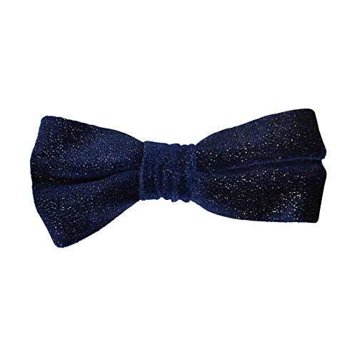 Pre-tied Bowtie for Boys Clip-on Metallic Velvet-Royal by DaCee Designs Accessories