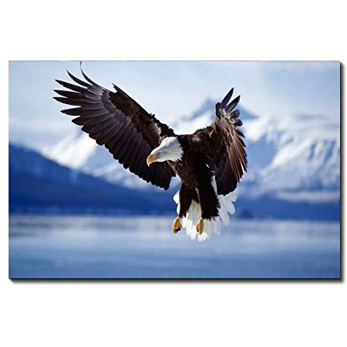 Animal Canvas Art Print By Banksy Canvas Wall Art For Bedroom Home Office Decorations -Snow Mountain Eagle Picture Art,16 * 24inch(40 * -