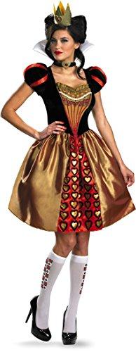 Disguise Women's Alice In Wonderland Movie Sassy Queen Costume, Red, Womens M (8-10) (Red Alice In Wonderland Dress)
