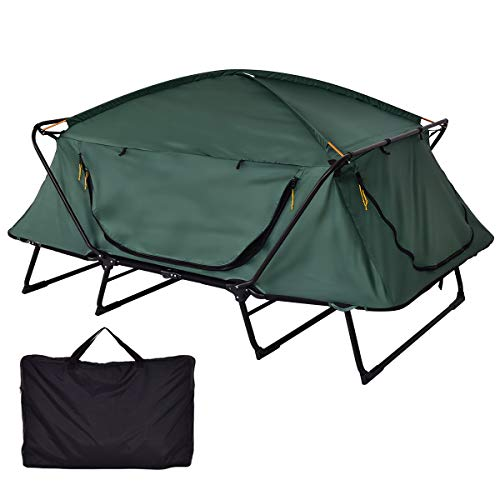 Gymax Tent Cot 2 Person Foldable Camping Waterproof