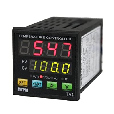 AGPtek® Universal Digital PID Temperature Controller RNR Control Out Dual display For Fahrenheit(F) and Celsius(C)