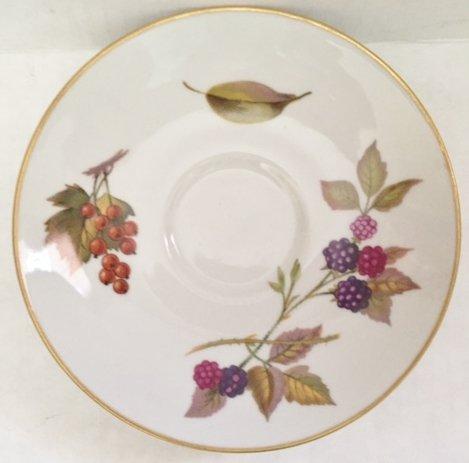 Royal Wocester Evesham Tea saucer with Gold (Gold Trim Saucer)
