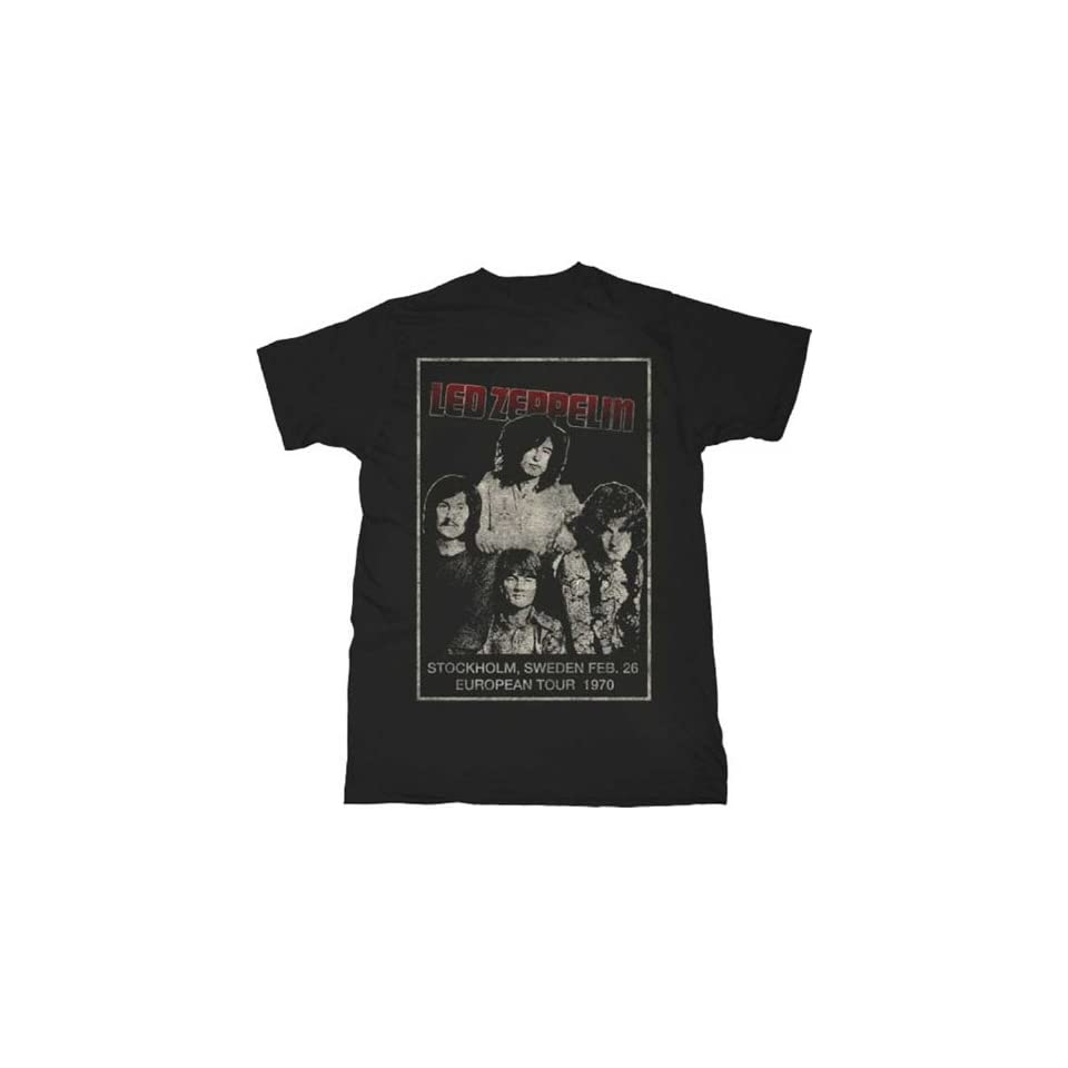 Led Zeppelin Stockholm Lightweight Black T Shirt