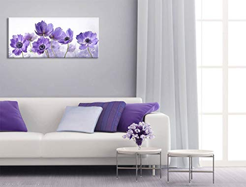 (Bedroom Decor Large Purple Flower Calliopsis Bloom Pictures Canvas Art Wall Decor Simple Life Modern Kitchen Wall Decor Artwork for Walls Framed Wall Art Home Decoration Wall Art for Office 20x48inch)