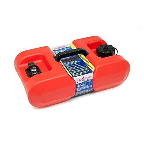 Scepter Marine EPA Portable Fuel Tank, Red, 3 gallon (Portable Boat Fuel Tank)