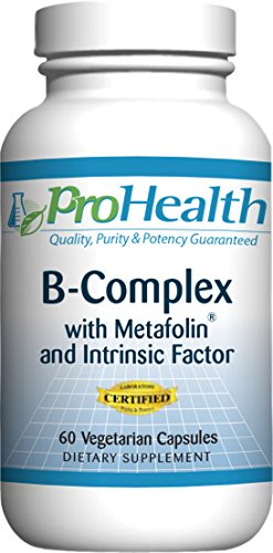 (ProHealth B-Complex with Metafolin & Intrinsic Factor - (60 Vegetarian Capsules))