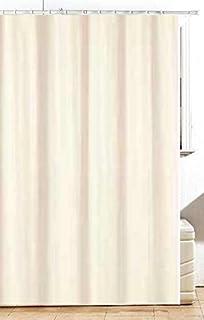 Fabric Bathroom Shower Curtain Plain Ivory Cream 180 X 200 Cm Hallways R