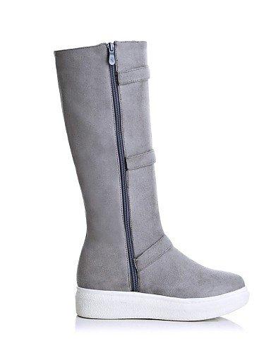 us8 De Eu42 us10 Cn43 Uk6 La Uk8 Xzz Plataforma Gris Vestido Gray Casual Mujer Botas Punta Moda Black Cn39 Eu39 Vellón Zapatos Negro 5 Redonda A 5 58UCqawgU1