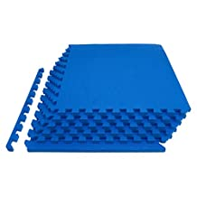 """ProSource Extra Thick Puzzle Exercise Mat ¾"""", EVA Foam Interlocking Tiles for Protective, Cushioned Workout Flooring for Home and Gym Equipment"""