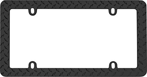 Cruiser Accessories 30850 Matte Black Diamond License Plate Frame