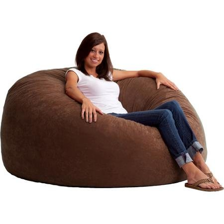 king-5-fuf-comfort-suede-bean-bag-chair-54-diameter-color-espresso