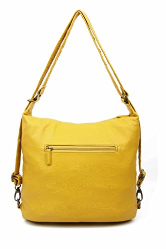 Leather Backpack Vegan amp; Mustard Purse Crossbody way 3 Convertible Creations by Ampere aqCZdCw