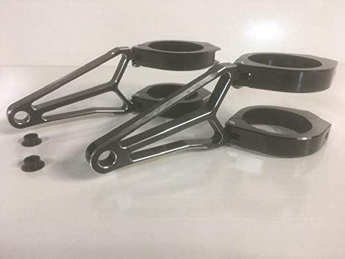 Speedmotoco 52mm 53mm Headlight Bracket Black Aluminum Streetfighter Cafe Racer