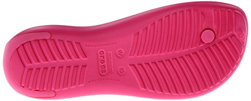 Crocs Sexi Flip Women, Chanclas para Mujer Rosa (Candy Pink/Candy Pink)