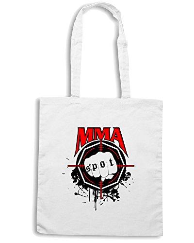 T-Shirtshock - Bolsa para la compra TAM0203 mma mixed martial arts hooded tshirt Blanco