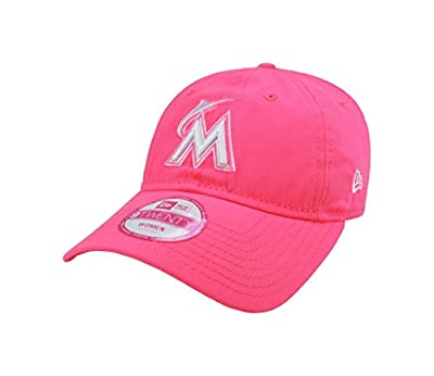New Era Women's Hat Miami Marlins MLB Essential Bright Pink One Size Cap