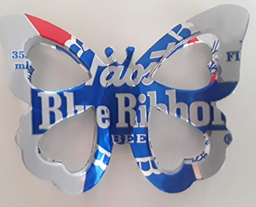 (PBR Pabst Blue Ribbon Beer Can Butterfly Hair Clip)