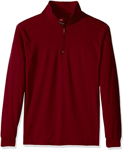 1/4 Zip Pullover Sweater (Hanes Men's Long Sleeve 1/4 Zip Pullover, Chili Pepper Sweater Heather, XX-Large)