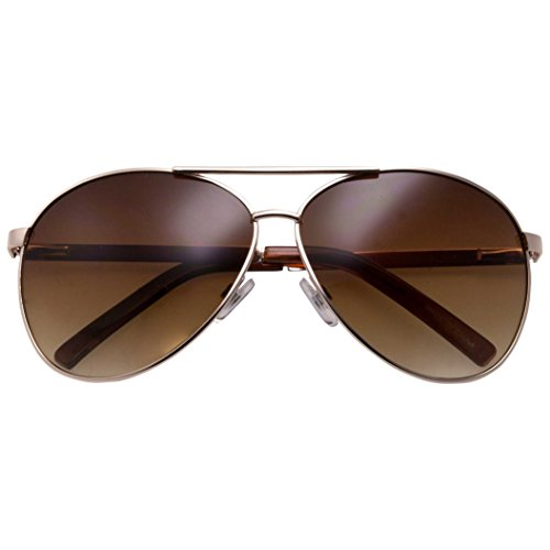 grinderPUNCH - Big XL Wide Frame Extra Large Aviator Sunglasses Oversized 148mm - Big Gold Frame
