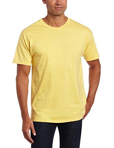 Silk Cotton Crewneck T-shirt - Hanes Ultimate Men's Classics X-Temp Crew Neck Soft Breathable T-shirt, Corn Silk, X-Large