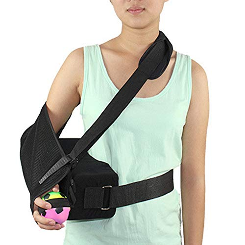WANG Adjustable Shoulder Immobilizer with Abduction Pillow Post-Op Shoulder Arm Brace Relieve Injury Support Shoulder Pain with Pillow & Ball, Universal,Rightarm (Average Recovery Time For Rotator Cuff Surgery)
