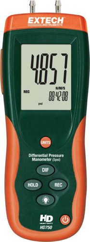Extech HD750 Differential Pressure Manometer - 5PSI