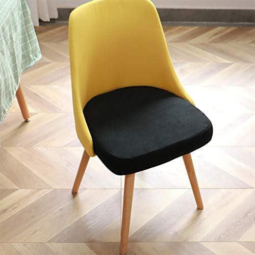 CHAISE Vanity Chair, de Salle à Manger en Tissu, Rembourrée avec Pieds en Bois Massif et Housse de Amovible - pour La Cuisine Familiale