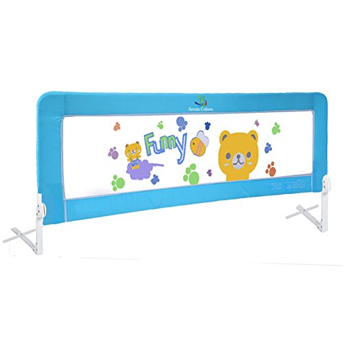 Baby Rail (Baby Bed Rail Children Extra Long Bed Guard Toddler Safety Guard Rail Fold Down Bedrail Stop Falling (70