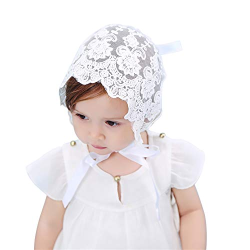 (Baby Classic Breathable Sun Protection Hat Lace Bonnet )